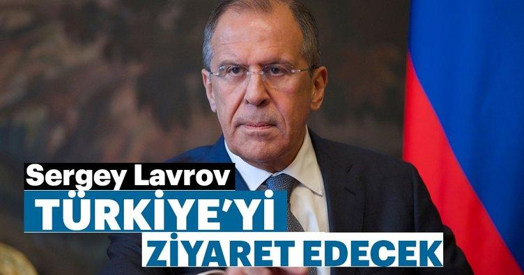 Rusya Federasyonu Dışişleri Bakanı Sergey Lavrov, Türkiye'yi ziyaret edecek