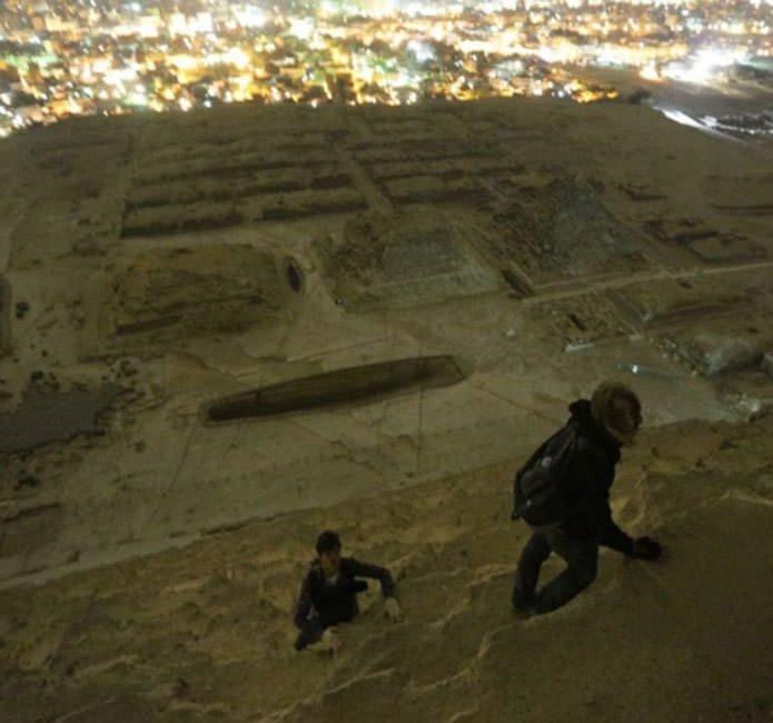 Piramit'in zirvesinden kareler