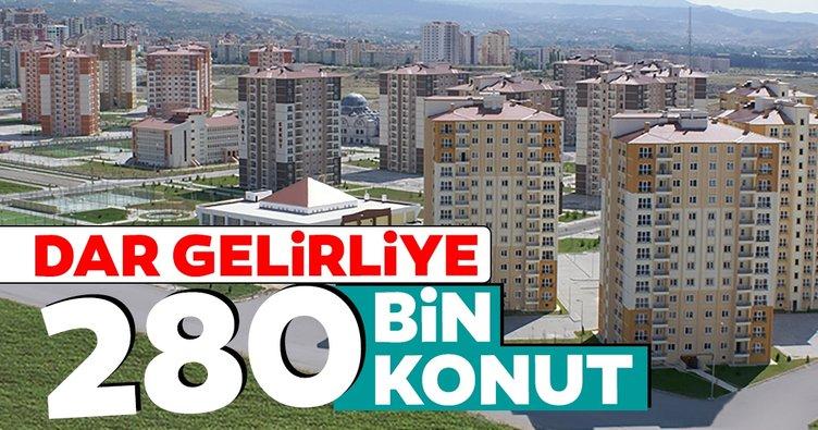 Dar gelirliye 280 bin konut