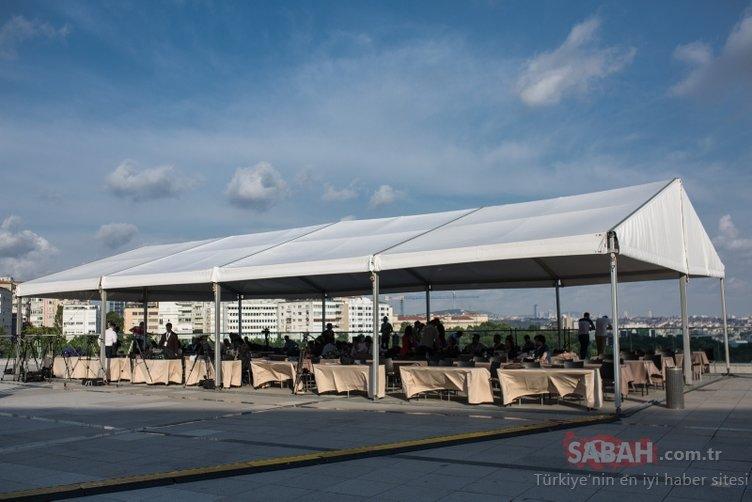 Ortak yayının yapılacağı Lütfü Kırdar Kongre Merkezi ve çevresinde geniş güvenlik önlemleri alındı