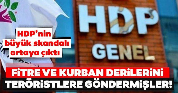 HDP'nin büyük skandalı ortaya çıktı! Fitre ve kurban derilerini teröristlere göndermişler