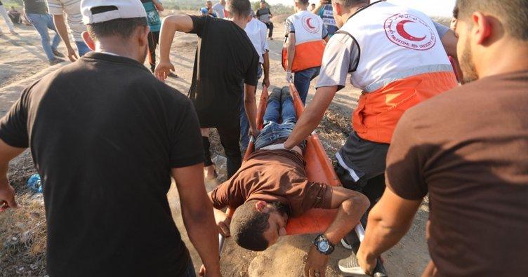 İşgalci İsrail askerleri Gazze sınırında sivil Filistinlilere saldırdı