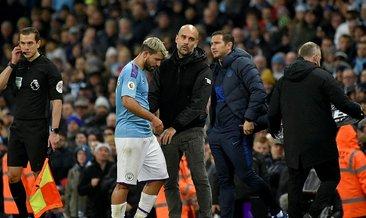 Manchester City'de Agüero birkaç hafta görev yapamayacak