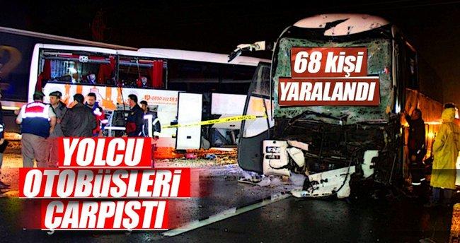 Karabük'te yolcu otobüsleri çarpıştı: 68 yaralı