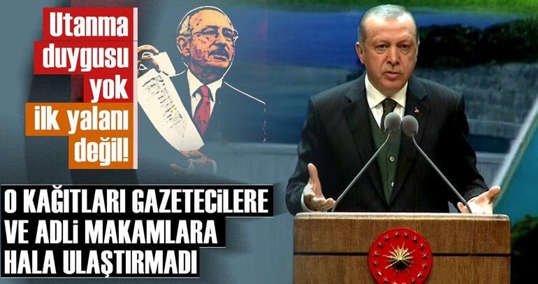 Cumhurbaşkanı Erdoğan'dan Kılıçdaroğlu'nun iftiralarına çok sert yanıt