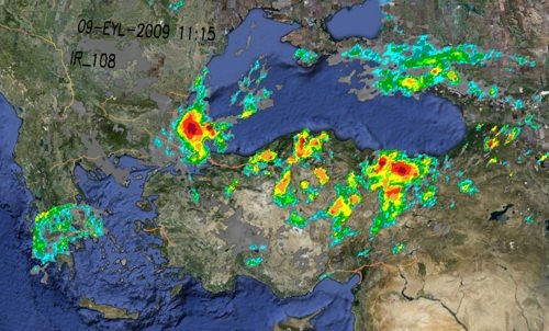 Sel felaketinin uydu görüntüleri