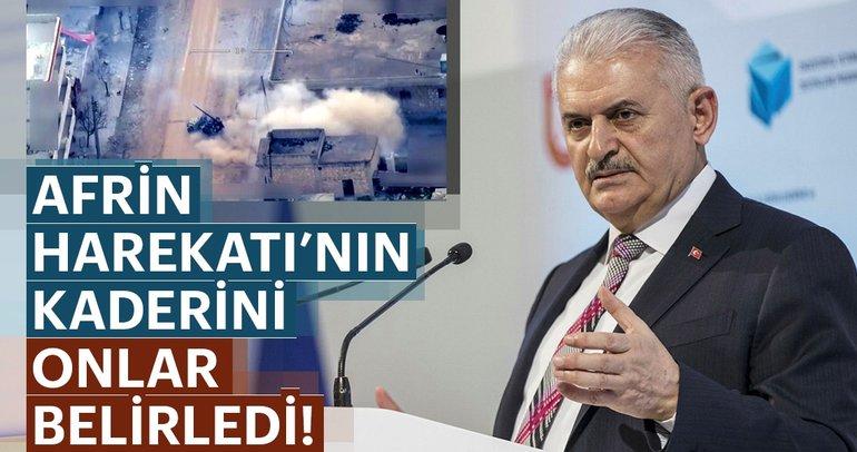 Son dakika: Başbakan Binali Yıldırım: Afrin harekatının kaderini İHA'lar belirledi