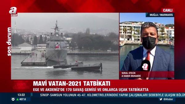 Mavi Vatan - 2021 tatbikatı! Ege ve Akdeniz'de 170 savaş gemisi ve onlarca uçak tatbikatta | Video
