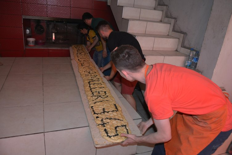 5 metrelik Ramazan pidesi