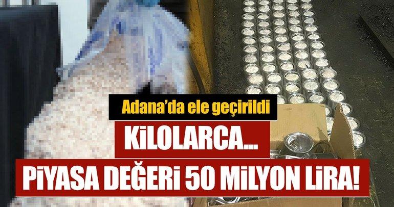 Son dakika: Adana'da piyasa değeri 55 milyonluk uyuşturucu ele geçirildi