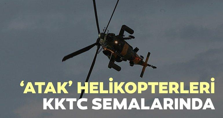 'Atak' helikopterleri KKTC semalarında