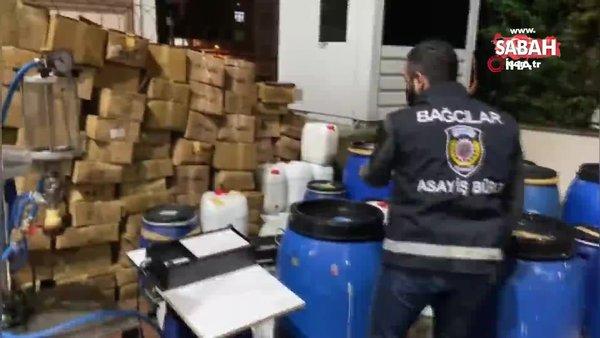 İstanbul'da kaçak parfüm imalathanesine baskın kamerada   Video