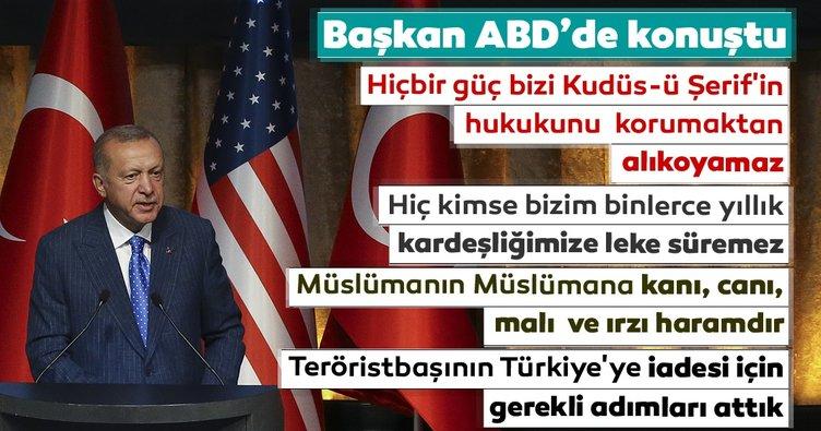 Başkan Erdoğan ABD'de açıklamalarda bulundu