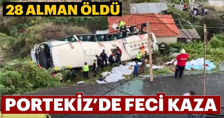 Portekiz'de otobüs devrildi, en az 28 kişi öldü
