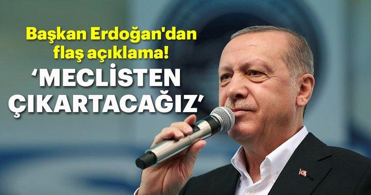 Başkan Erdoğan'dan CHP'nin İş Bankası hisseleri hakkında flaş açıklama!