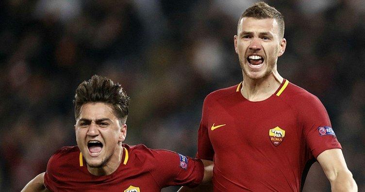 Cengiz Ünder'li Roma Şampiyonlar Ligi'nde çeyrek finalde