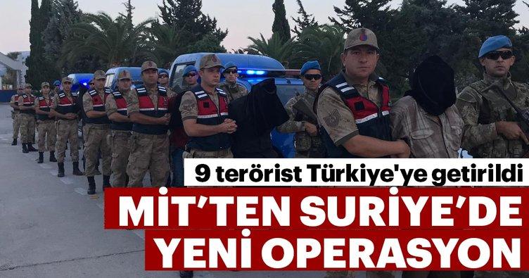 MİT, Suriye'de 9 teröristi yakalayarak Hatay'a getirdi