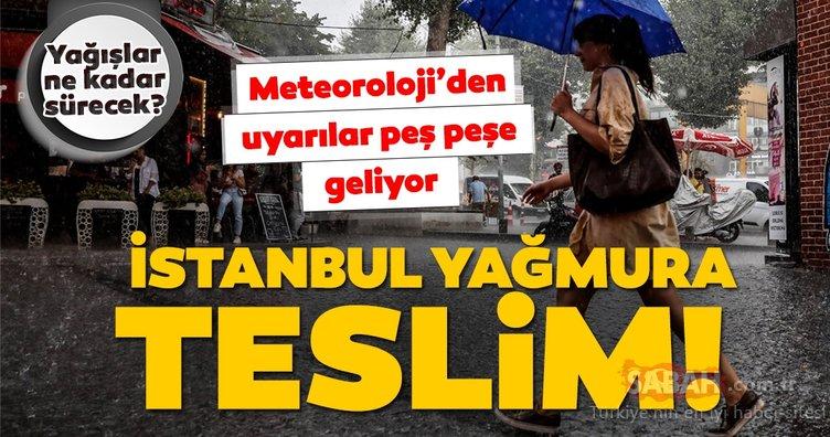 Meteoroloji'den İstanbul için son dakika hava durumu ve sağanak yağış uyarısı geldi! Yağmur ne zaman duracak? 17 Ağustos Cumartesi