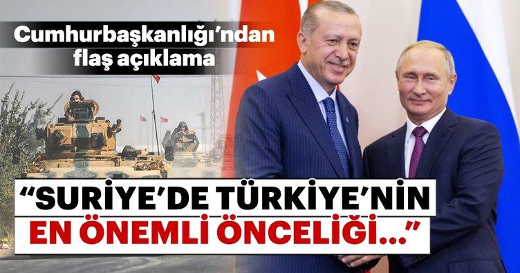 Cumhurbaşkanlığı'ndan flaş açıklama! Türkiye'nin en önemli önceliği...