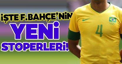İşte Fenerbahçe'nin yeni stoperleri!