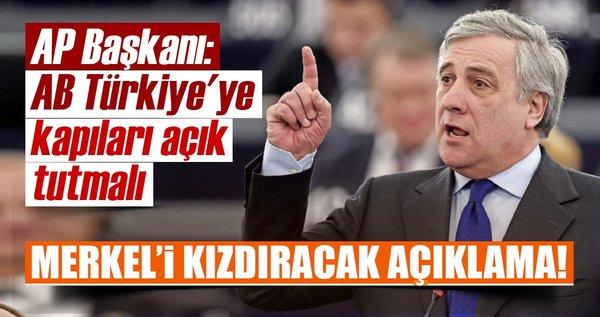 Son dakika: AP Başkanı, 'AB Türkiye'ye kapıları açık tutmalı'