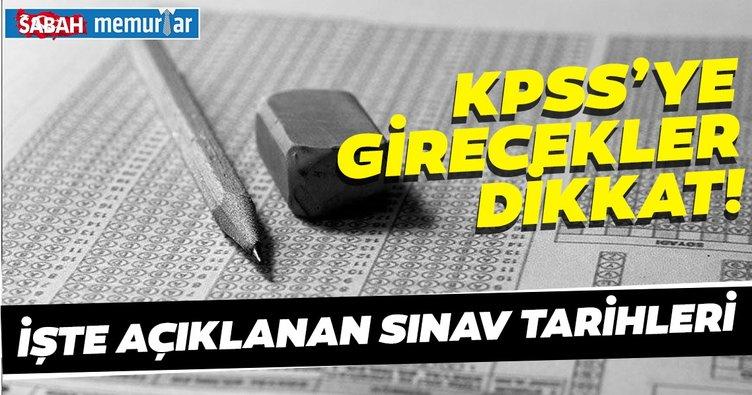 Sabah memurlar: KPSS sınav tarihleri... KPSS'ye girenler yüz binlerce aday dikkat!