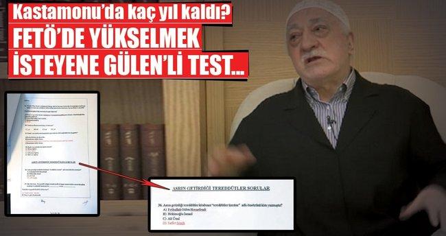 FETÖ'de yükselmek isteyene Gülen'li test...