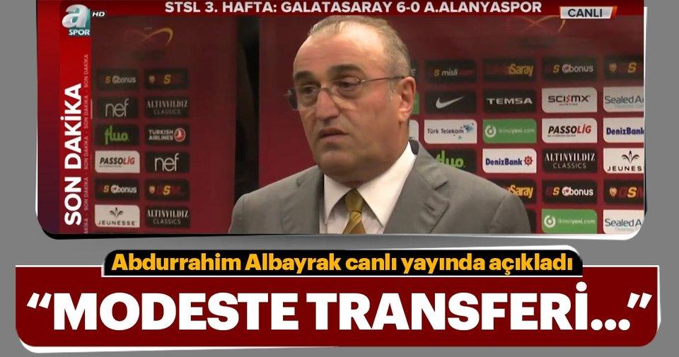 Abdurrahim Albayrak: Modeste transferi olmayacak ile ilgili görsel sonucu