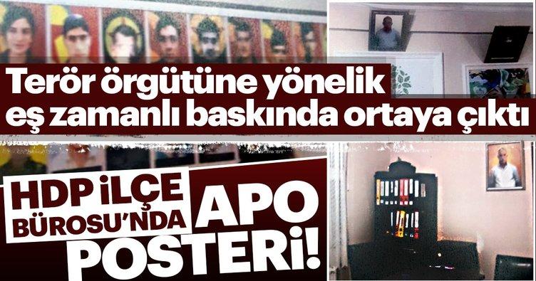 HDP İlçe Bürosu'nda Apo posteri!