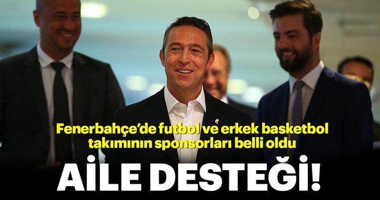 Fenerbahçe'de futbol ve erkek basketbol takımının sponsorları belli oldu: Aile desteği