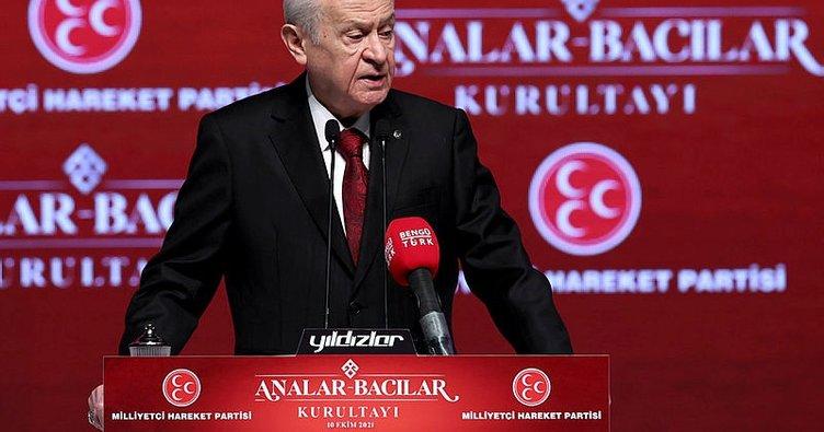 Son dakika haberi: MHP Lideri Devlet Bahçeli: HDP'ye destek PKK ile ortaklıktır.
