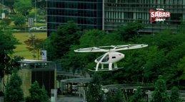 18 pervaneli uçan taksi 'Volocopter' Sinpagur semalarında!