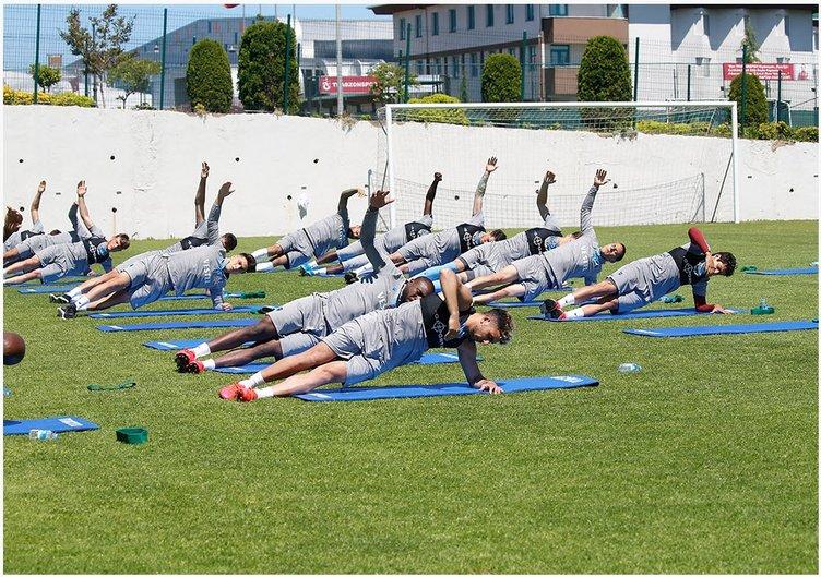 Trabzonspor idmanında dikkat çeken kare!
