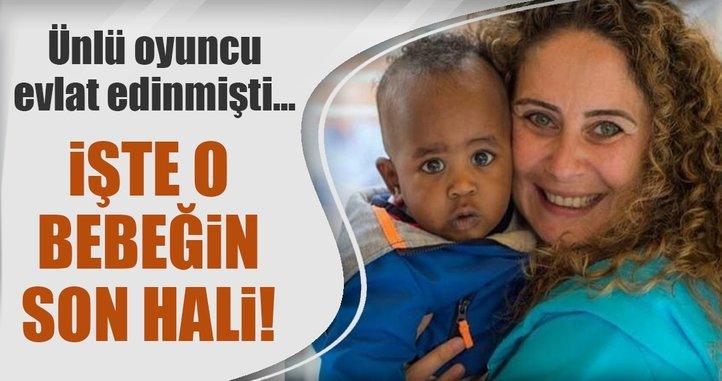 Esra Akkaya'nın evlat edindiği siyahi bebek, şimdi kocaman oldu