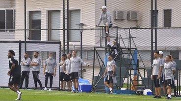 Beşiktaş Denizlispor hazırlıklarını sürdürdü! Sergen Yalçın'dan dikkat çeken kare