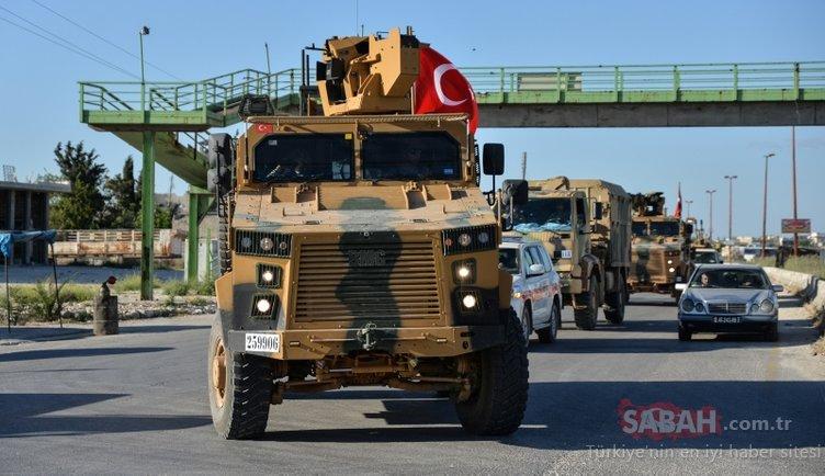 TSK konvoyundan İdlib'de devriye