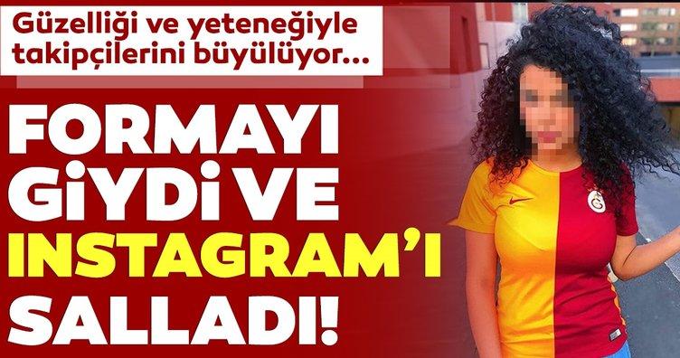 Güzelliği ve futbol yeteneğiyle Instagram'ı sallıyor! Galatasaray forması da giydi...