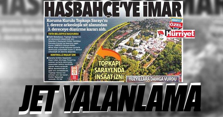 Hürriyet'in hasbahçe haberine çifte yalanlama