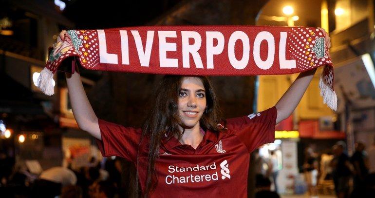 Liverpool taraftarlarından Taksim'de sevinç gösterisi
