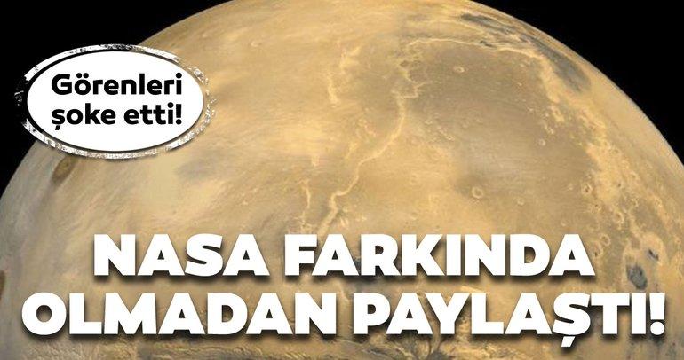 NASA farkında olmadan paylaştı! Mars'taki keşif şoke etti!
