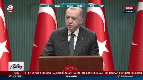 SON DAKİKA: Cumhurbaşkanı Erdoğan yeni kısıtlama kararlarını canlı yayında açıkaldı!
