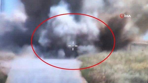 Milli Savunma Bakanlığı'ndan flaş paylaşım! İmha edilme anı kamerada   Video