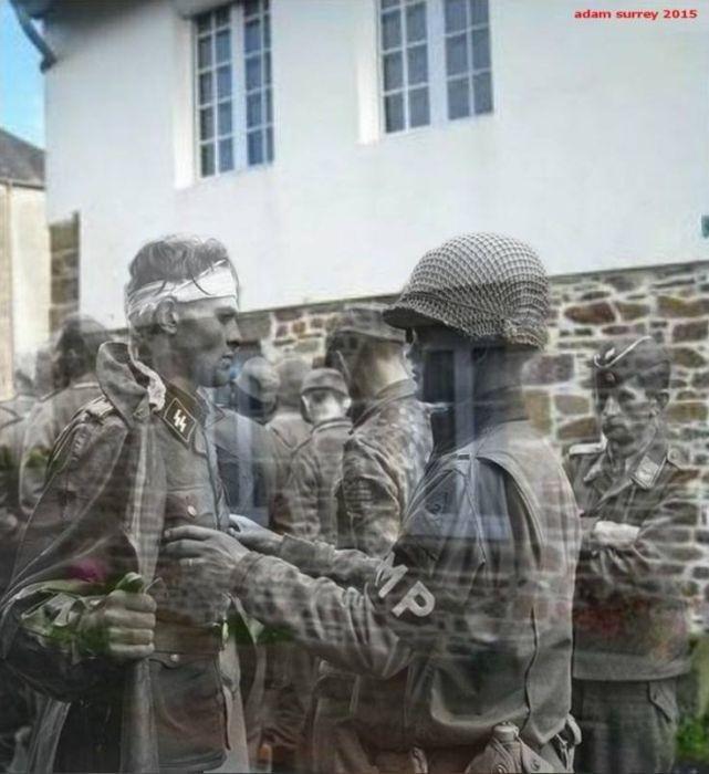 İkinci Dünya Savaşı günümüz fotoğraflarında