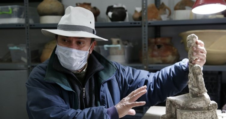 Kültepe'de Eski Tunç Çağı'na ait tanrıça heykeli bulundu