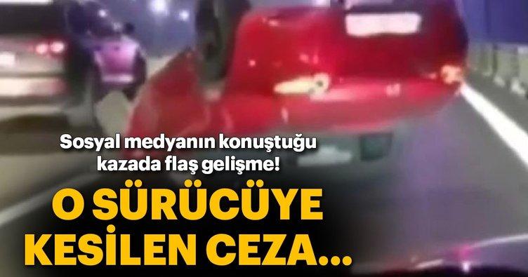 FSM köprüsünde makas kazası: Sürücüye 235 lira ceza