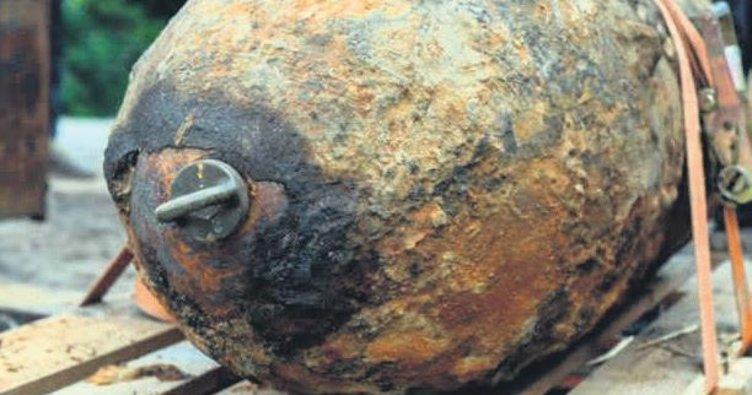 Çocuk parkında patlamamış bomba