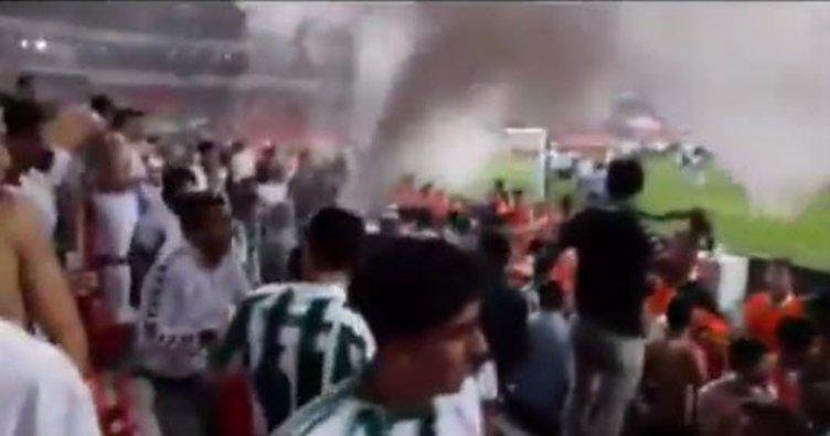 Süper Kupa finalinden yeni görüntüler! Yangın tüpü...