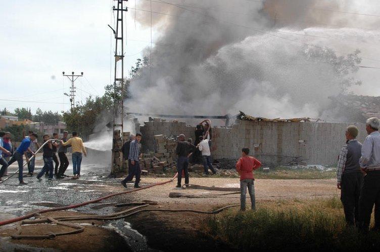 Reyhanlı'da mazot deposunda patlama