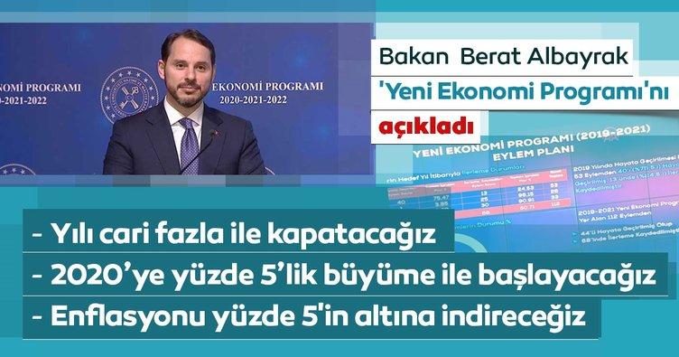 Son dakika haberi: Bakan Albayrak 'Yeni Ekonomi Programı'nı açıkladı