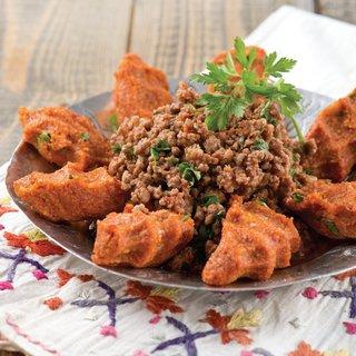 Arap kebabı ve patatesli köfte